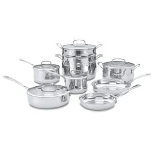 Cuisinart 44-13 13-Piece Contour Stainless Cookware Set