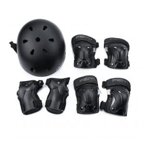 Weanas Kids Youth Adjustable Sports Helmet Knee Elbow Wrist Pads