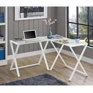 New White X-frame computer desk