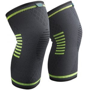 Sable Knee Brace, Compression Sleeve FDA Approved, Support for Arthritis, ACL, Running, Biking, Basketball Sports, Joint Pain Relief, Meniscus Tear, Faster Injury Recovery, 2 Piece