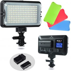 LED Video Light,Pixel On Camera Light Bi-Color 3200-5600K with Built-in Battery for DSLR Camera,Sony,Canon,Nikon,iPhone,180 Beads Pocket Light for Photography Live Broadcast YouTube Video Shooting