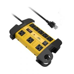 #9. CRST Heavy Duty Power Strip Surge Protector 15 Amps