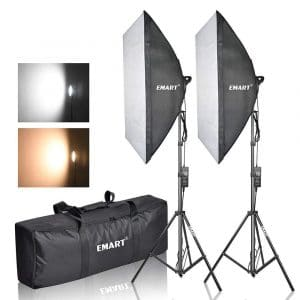 Emart Photo Equipment Studio Softbox Lighting Kit