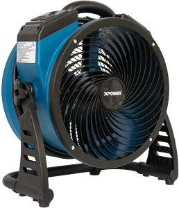 XPOWER P-26AR Industrial Axial Air Mover, Blower, Fan with Build-in Power Outlets for Water Damage Restoration, Home and Plumbing Use