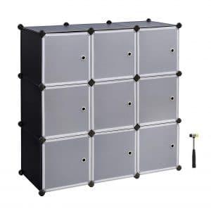 SONGMICS Cube Storage DIY Modular Closet Plastic Cube Organizer