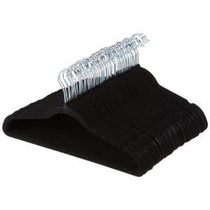 AmazonBasics Velvet Suit Hangers - 100-Pack, Black