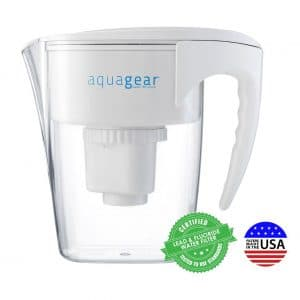 10. Aquagear Water Fluoride and Lead BPA-Free Filter Pitcher