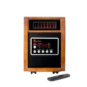 Dr Infrared Heater, Advanced Dual Heating with Remote Control