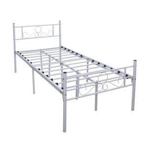 HOMERECOMMENDED Metal Foldable Bed Frame
