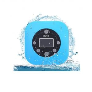 HOTT Portable Waterproof Shower Speaker with Suction Cup