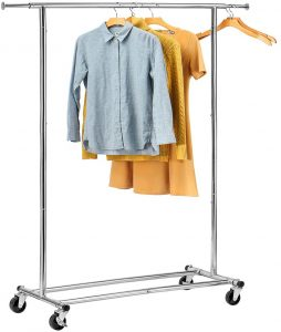 HOUSE DAY Portable Clothing Heavy-Duty Collapsible Clothing Rack