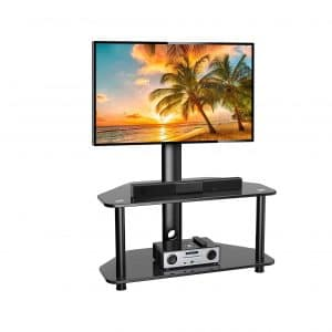 PERLESMITH Swivel Floor TV Stand for 32 to 55 Inches TVs