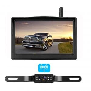 TOGUARD Waterproof Backup Camera Kit with 7 inch LCD Monitor for Truck//RVs//Trail