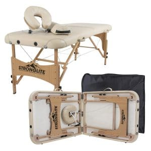 STRONGLITE Portable Olympia Double Knobs Massage Table