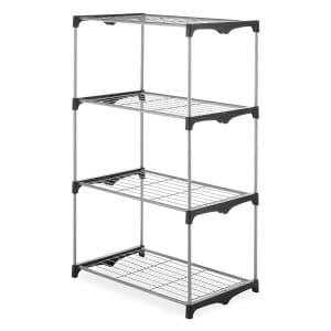 Whitmor 4 Tier Closet Storage Shelf Tower Organizer