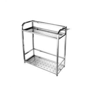 iwuhei Home Storage- 2-Tier Spice Rack Organizer (Silver)