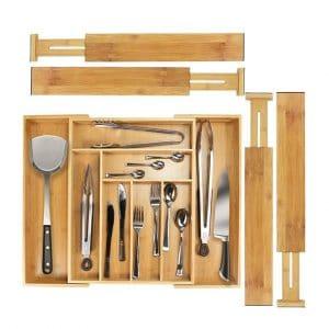 Monpearl 5 Set Adjustable Kitchen Drawer Organizer