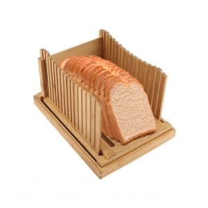 EBTOOLS Bread Slicer Guide with Crumb Catching Tray