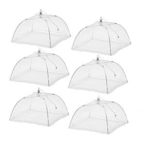 ESFUN 6 Pack Large Pop-Up Mesh Food Tent Cover