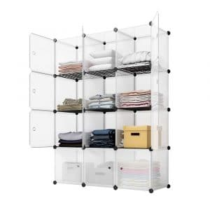 KOUSI Portable Storage Cube Storage Shelves Cubes 12 Storage