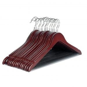 LOHAS Home Solid Wood 16 Pack Suit Hangers, Cherry