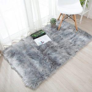 OJIA Deluxe Soft Faux 3 x 5ft Sheepskin Area Floor Rugs