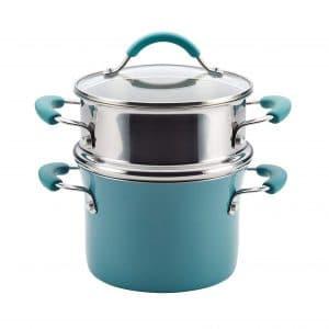 Rachael Ray Porcelain Enamel Nonstick Multi-Pot / Steamer