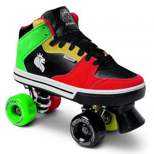 Rasta Mid-Top Roller Skates from Sure-Grip