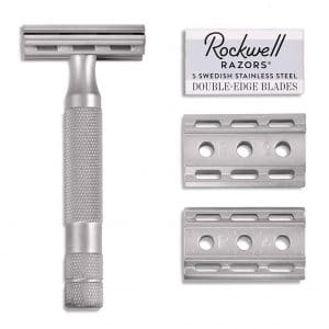 Rockwell Razors 6S Stainless Steel Adjustable Double Edge Safety Razor + 5 Swedish Stainless Steel Razor Blades