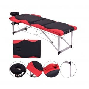SAFEPLUS Adjustable Portable 84 inches L Aluminum Massage Table