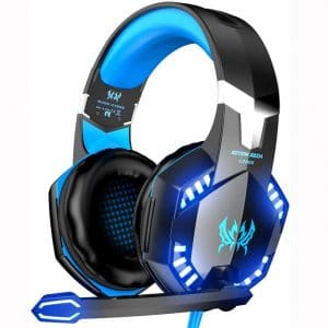 VersionTECH. G2000 Gaming Headset, Surround Stereo Gaming Headphones with Noise Cancelling Mic, LED Light & Soft Memory Earmuffs, Works with Xbox One, PS4