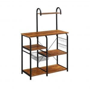Mr. IRONSTONE Vintage Storage Shelf 35.5 inches Kitchen Spice Rack Organizer