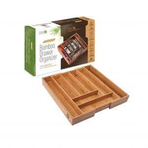 Pristine Bamboo Kitchen Drawer Organizer