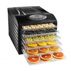Chefman Dehydrator Machine with 6 Trays and Transparent Door