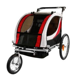 Clevr 3-in-1 Collapsible Double Bike Trailer