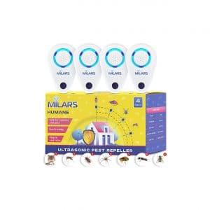 Milars Group Ultrasonic Pest Repellers Packs of 4