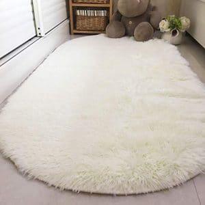 Noahas Ultra Soft 4.5cm Room Carpet Velvet Area Rugs, Creamy