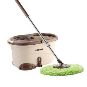 Oshang EasyWring Hand-Free Spin Mop and Bucket
