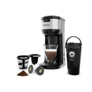Sboly Single Serve Coffee Maker for K-Cup and Ground Coffee