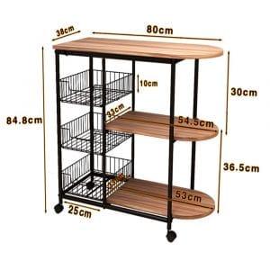 Suler 3-Tier Shelf Standing Kitchen Rack Spice Storage Cart