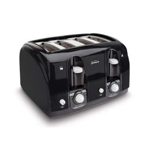 Sunbeam Wide Slot (003911-100-000) 4-Slice Toaster, Black