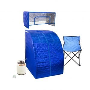 WYZworks Blue Portable 2L Water Capacity Sauna