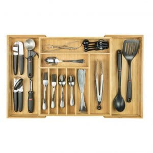 KitchenEdge Premium Expandable Silverware Organizer for Kitchen