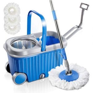 Mastertop- Microfiber Spin Mop Bucket Set