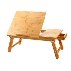 NNEWVANTE 100% Bamboo Laptop Desk Serving Bed Tray
