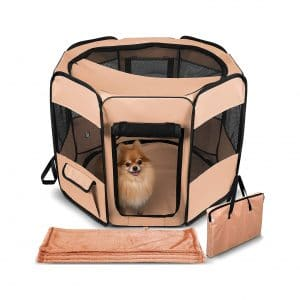Paws & Pals Dog Playpen with Blanket