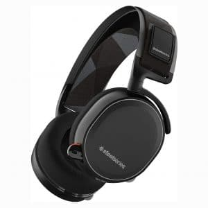 SteelSeries Arctis 7 Lag-Free Wireless Gaming Headset with DTS Headphone-X 7.1 Surround for PC, Playstation 4, VR, Mac and Wired for Nintendo Switch, Android and iOS - Black