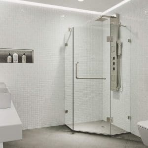 VIGO 36 X 36 Inches Clear Glass Frameless Shower Door