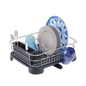 mDesign Large Kitchen Dish Rack