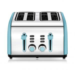 Chitomax 4 Wide Slots Toaster Stainless Steel Toasters, Blue